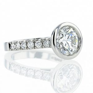 Bezel Set Platinum Ring