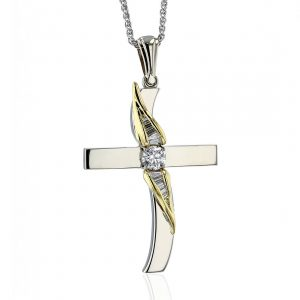 Two-Tone Gold Cross