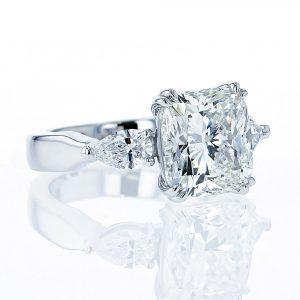 5.09ct Cushion Cut Diamond Ring