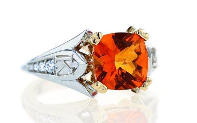 Custom Colored Gemstone Rings